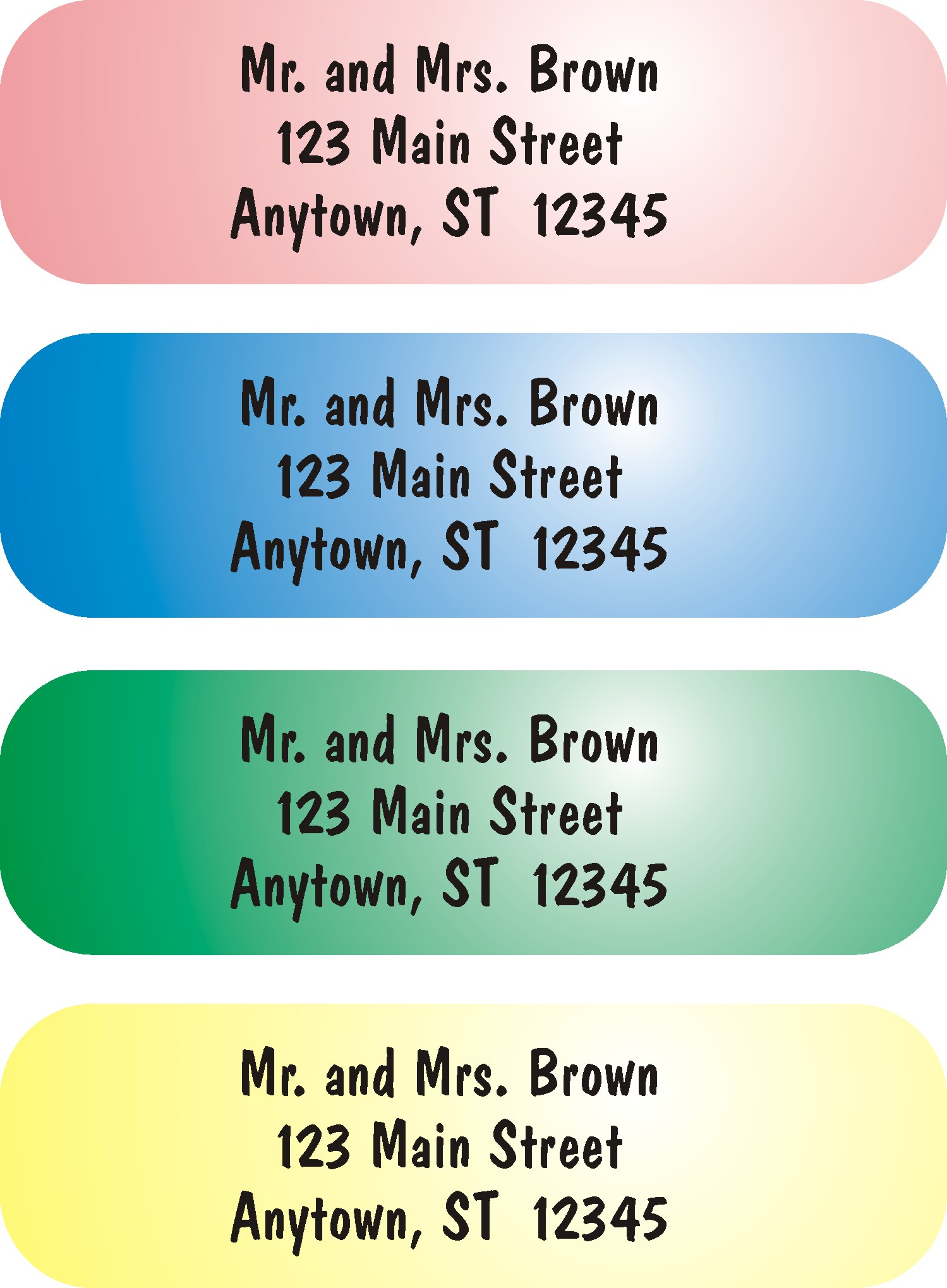 How to write a return address labels