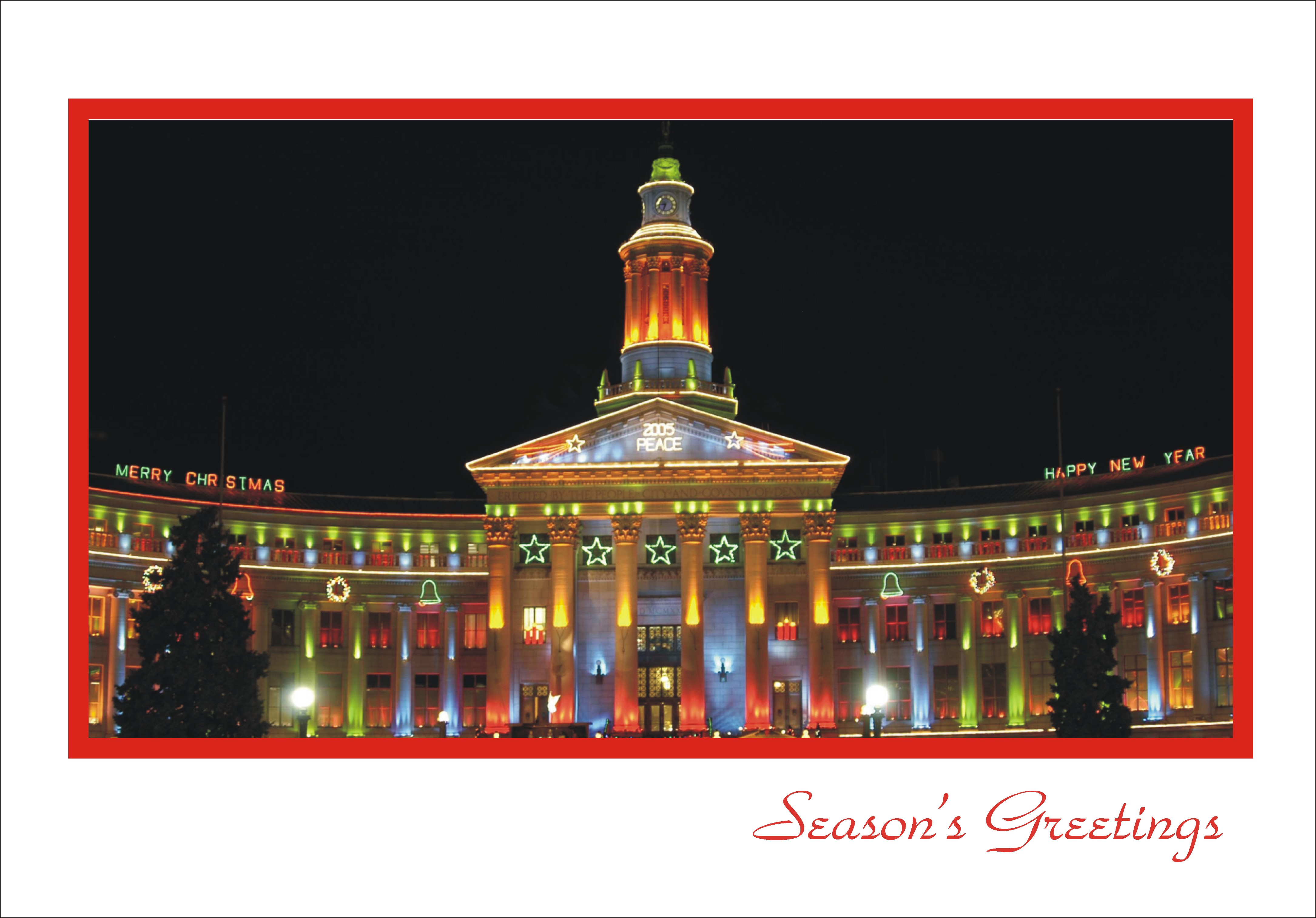 Scenes Of Denver Colorado Holiday Cards From Sand Scripts