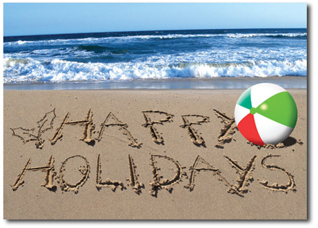 NAUTICAL HOLIDAY CARDS From Your REGION WARMEST WISHES Sand