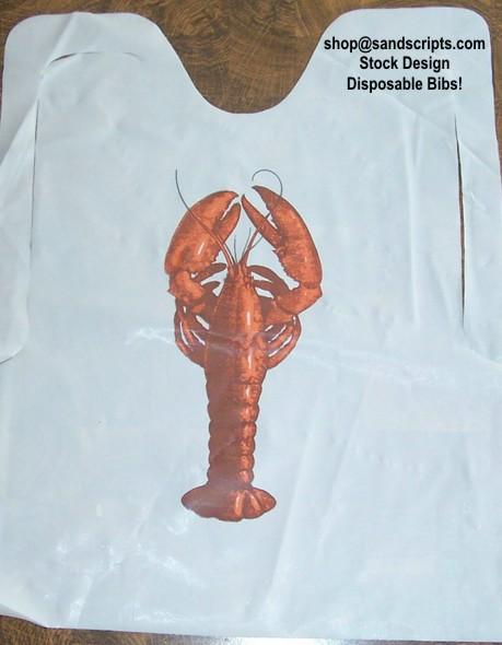 bibs plastic lobster large Disposable adult bibs for hospital usage. See larger image