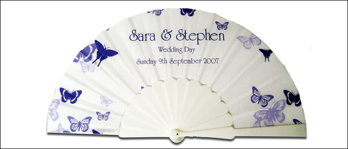personalized cloth folding fans by sand scripts