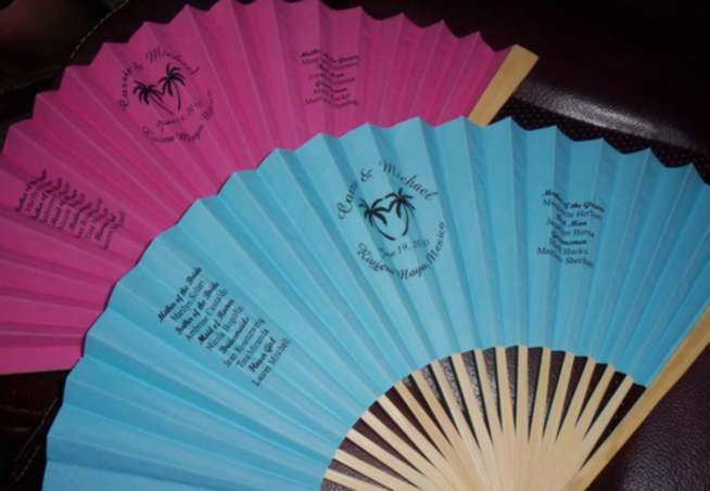 PERSONALIZED FOLDING FANS, cloth or paper fans custom