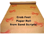 Sand Scripts' Crab Paper Table Covering Roll