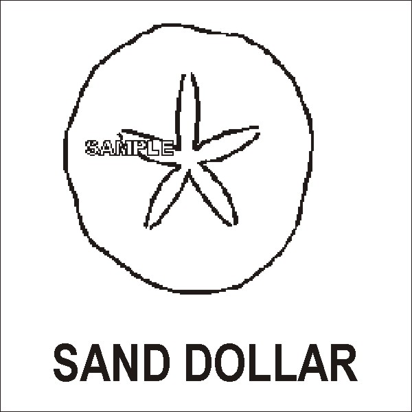 Displaying (18) Gallery Images For Sand Dollar Outline...