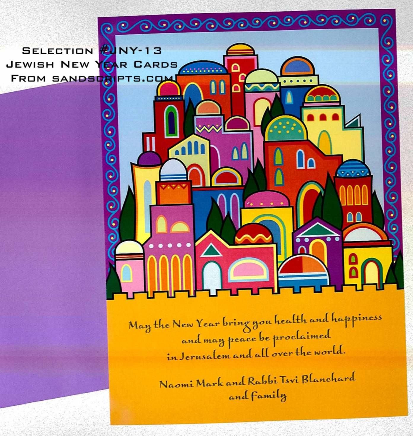 Jewish New Year Rosh Hashanah Cards From Sand Scripts