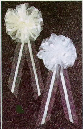 115 tissue wedding bells 2495dozen pew bows