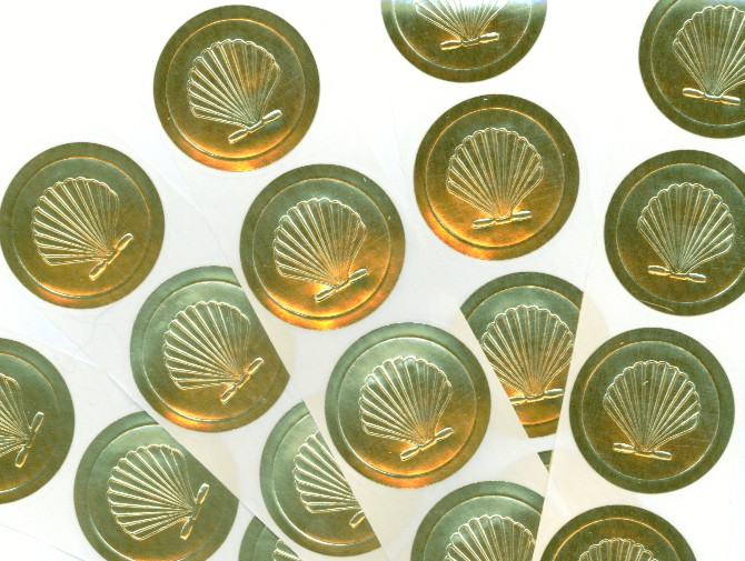 ENVELOPE SEALS Printing Invites Cards Embossers Favors - Custom gold foil stickers