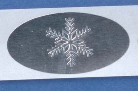 silver foil with embossed snowflake approx 1 x 2